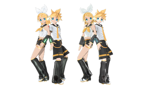 Kaganime twins from dt 1st and 2nd by MMD-francis-co