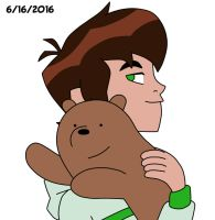 Ben Tennyson and baby Grizzly by AngeloCN
