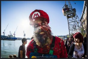 Zombie-Mario at Zombiewalk Helsinki 2015 by flaming-trout