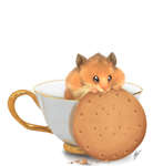 Day 3 Teacup: Hamster by Yufika