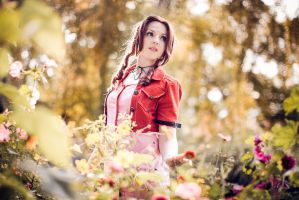 Final Fantasy VII Aerith Gainsborough: Flowers by princess-soffel