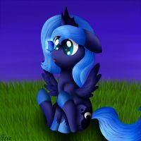 Filly Luna with butterfly by Frozl