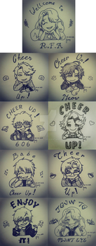 Mystic Messenger - Cheer Up by amyrose7