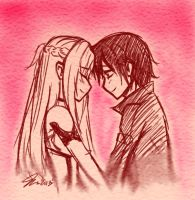 Kirito And Asuna-Forever by MESS-Anime-Artist