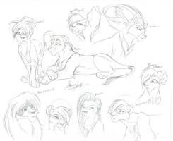 Practising Lions by Ann-Chovi