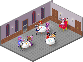 Party in Scarlet Devil Mansion by grotar00