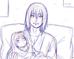 Come See Your Daugter Itachi Sketch by itasasu2002