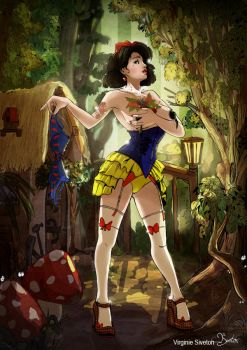 Tribute to Snow White by VirginieSiveton