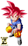 Kid Goku GT Super Saiyan God by el-maky-z