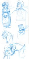 Dudley Do-Right Doodles by NatAsplund