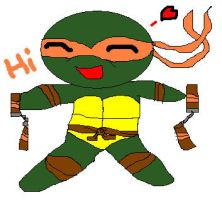Chibi Mikey by TMNTISLOVE
