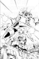IDW Transformers 11 Cover inks by GuidoGuidi