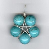 Turquoise Star Pendant by LWaite
