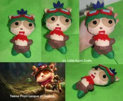 Teemo Chibi Plush from League of Legends by lkcrafts
