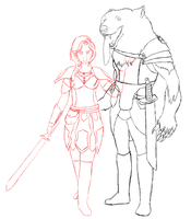 Agatha and Algor WIP by banana-bird111