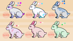 CLOSED Free Bunny Adopt Unnatural colors by itslage-adopts
