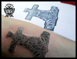 Mjolnir Tattoo by RiversStudio86