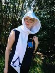 Assassin's Creed Scoodie Scarf Hood Cosplay White by Monostache