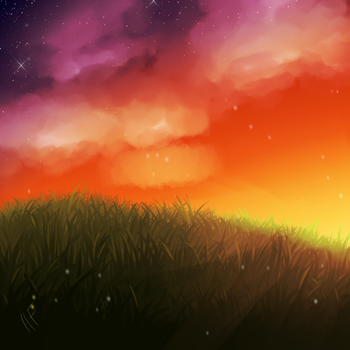 Evening Painting by hawkfurze