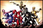 We Are the Power Rangers Print by DavidFernandezArt