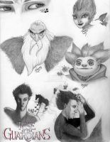 Rise of the Guardians Thumbnail Sketches by GagaPotterTribute