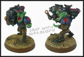 Grot Troopa With Supa Blasta by Proiteus
