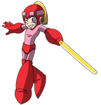 Mega Woman - Rollwoman for bleuVII by Keytee-chan