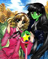 Elphaba and Glinda by vifetoile