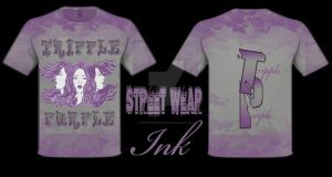 TRIPPLE PURPLE T-SHIRT DESIGNED BY StreetWear INK by StreetWearinc