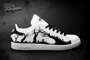 "Custom Sneakers ""Smallworld"" by JohanNordstrom"