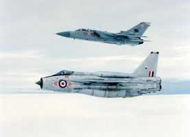 Lightning F.6 XP693 and Tornado F2 ZE785 by fighterman35