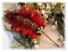 BUTTERFLY MAGICK Feather Pen by ChaeyAhne
