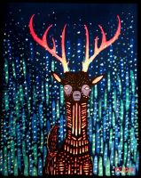 deer in the night by vonnbriggs