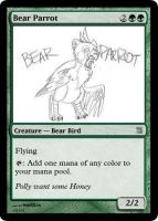 MtG: Bear Parrot by Overlord-J