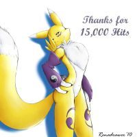 Renamon Thanks You by renadrawer