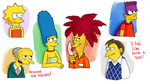 Random characters from 'The Simpsons' by Hegichern