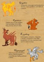 Bestiary Gryphons by applescruff