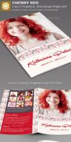 Cherry Red Funeral Program Template by loswl