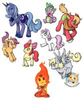 MLP 2 and Fire Princess Keychains by NotJailBait