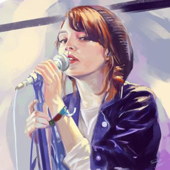 lauren mayberry by FeRnIx