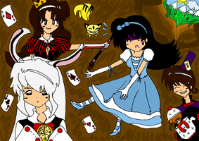 + Kagome in Wonderland + by XInuyasha-DoujinshiX