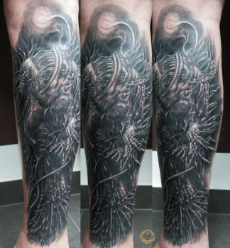 Lantern Fish Myctophidae tat by 2Face-Tattoo