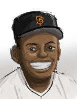 Willie Mays by taneel
