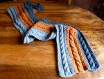Cabled scarf by Melhyria
