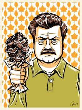 Ron Swanson from 'Parks and Recreation' by Hefnatron