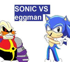 sonic vs eggman cover by shadmart