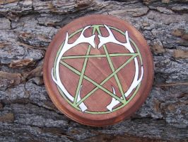 Antler Pentacle Altar Piece by sesshys-jaded-samuri