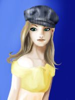Girl with hat by smittywerberyagerman