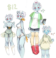 Design For Sale: Blueberry Oni (SOLD) by Costly
