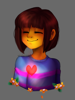 Frisk Sketch by NiaSeishi